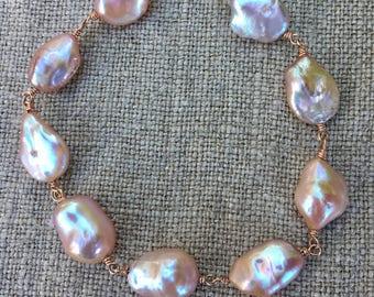 Freshwater Keshi Pearl Bracelet