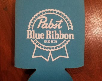 PBR pabst blue ribbon can insulator