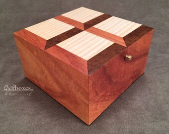 Attic Windows Pattern / Koa Marquetry Keepsake Box by Quiltboxes