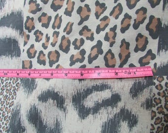 Free Shipping - 5Yd. sheer fabric remnant  Animal skin print Destash Bargain Approx 5 yd x 46 in. Not cotton