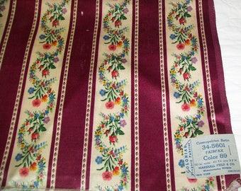 "Vintage Fieldcrest Satin Drapery Fabric Remnant - Marshall Field & Co. - 48"" x 24"""