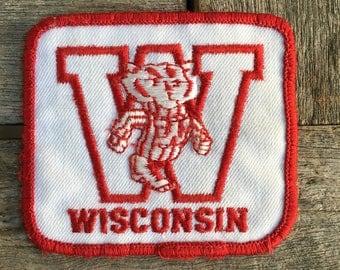 University of Wisconsin Vintage Souvenir Travel Patch