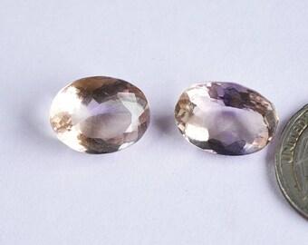 2 Pcs Ametrine cut Gemstone,Normal cut Ametrine Gemstone,16x12mm,21Cts Ametrine Jewelry,Genuine Ametrine#5787
