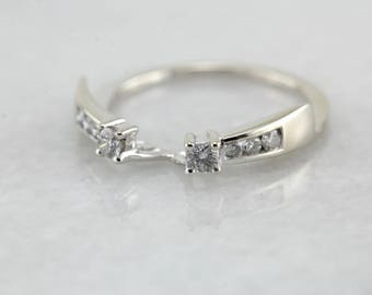 RESERVED - Third (and FINAL) Payment - White Gold Diamond Solitaire Enhancer, Wrap Band J0R9X6-P