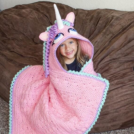 Knitting Pattern Unicorn Blanket : CROCHET PATTERN - Hooded Unicorn Blanket Pattern (PDF File) from BriAbbyHMA o...