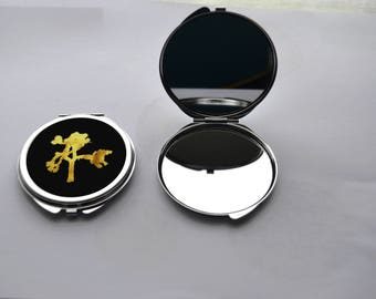 "metal ""Joshua Tree"" double Pocket mirror"