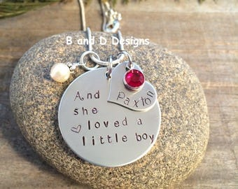 Perfect for mom And she loved a little boy necklace