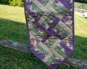 Rail Fence Civil War Tablerunner Handmade Table Decor