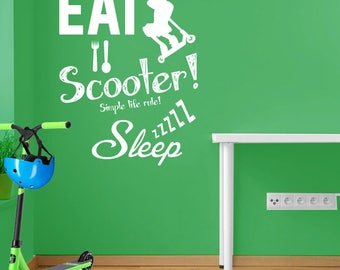 Stunt Scooter Wall Decal A102