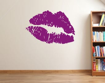 Lip Print Kiss Wall Window Stickers Decals Decor Fun Vinyl Colourful A132