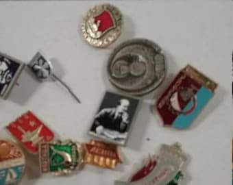 10% OFF 3 day sale Vintage  russian pin lot