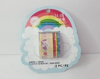 Craft smith washi  rainbow and unicorns