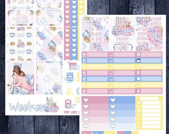 Weekend Sale Book Worm Kit for Erin Condren Life Planner Vertical Layout