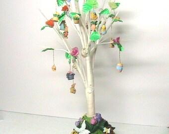 Easter tree, Miniature Illuminated Easter Tree with Mini Ornaments, NOS