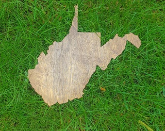 West Virginia Wall Art, Wooden West Virginia Map, West Virginia Map Outline, West Virginia Map Art, West Virginia State Cutout