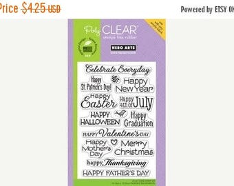 Hero Arts CELEBRATE EVERYDAY Stamp Set Clear Acrylic Stamp Set CL498 cc02