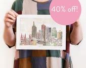 40% OFF! Melbourne - Reproduction of an Original Artwork - A4