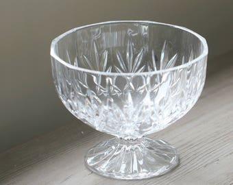 Waterford Crystal Pedestal Bowl, Irish Crystal Bowl, Vintage Crystal Bowl, Vintage Wedding Gift