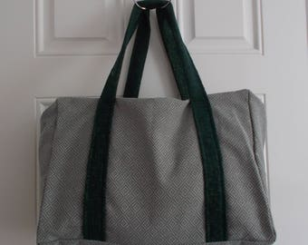 Diamond pattern/ Weekend/ Tapestry/ Carpet Bag/ Duffle bag