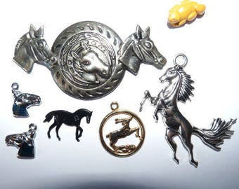 charm horse horses set different jumpers for decoration ornament jewelry pendant