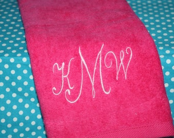 Monogram golf towel - Personalized monogrammed golf gift - Ladies Embroidered Towel - Custom Golf Gift - Christmas Gift