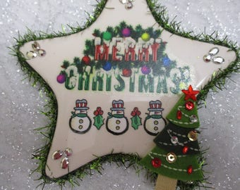 Snowman Star Christmas ornament