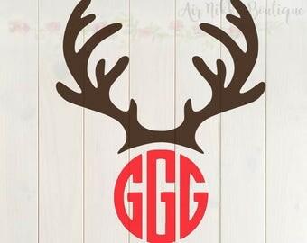Reindeer Antlers only, Deer SVG, DXF, PNG files, instant download