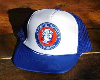 Vintage Old School Mammoth Mountain Ski Mesh Snapback Hat