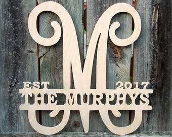 Monogram Wall Decor, Monogram Wooden Letters, Wooden Monogram, Wall  Hanging, Monogram Wall