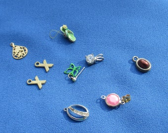 Lot Of Salvaged Charms Pendants Single Odd Earring