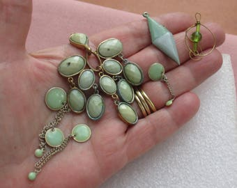 Lot Of Salvaged Pendants Beaded Dangles