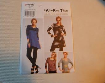Vogue 8817  Katherine Tilton Pullover tops