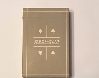 Vintage Redi-Slip Remembrance Playing Cards
