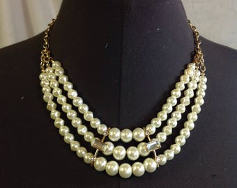 Reproduction Vintage Art Deco Statement Necklace Costume Jewelry