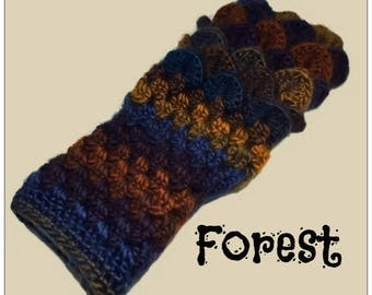 Dragon Scale Fingerless Gloves - Made to Order