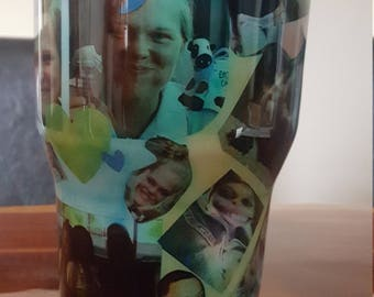 Photo tumbler, personalized with your pictures