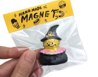 Witchy Garfield Magnet