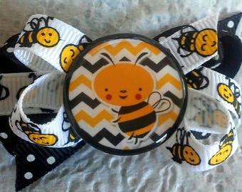 Dog Bow- BUMBLE BEE Boutique in Yellow and Black