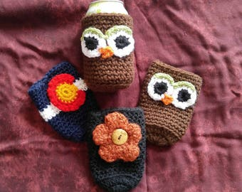 FLASH SALE!!! Cute assorted drink cozies ***Ready-To-Ship***