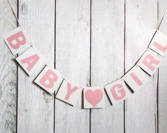 Baby Girl Banner,Baby Shower banner,Girl Banner,Photo Prop Banner,It's a Girl Banner,Chipboard Banner