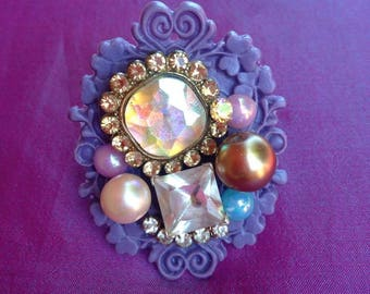 Bejeweled Kawaii Statement Ring, sweet lolita, girly, chunky, fairy kei, gyaru, Harajuku