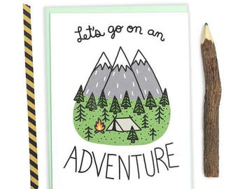 Moving SALE Adventure Card, Outdoorsy Birthday Card, Anniversary Card, Vacation, Journey Card, Friend Birthday, Road Trip, Camping, Hiking,