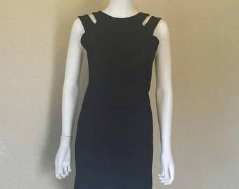 ON SALE Black cutout sleeveless dress