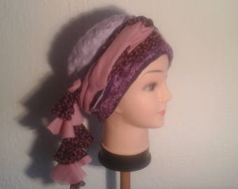 All chemo hat, turban headband, woman, girl for the winter