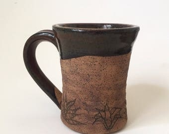 Cactus stoneware mug
