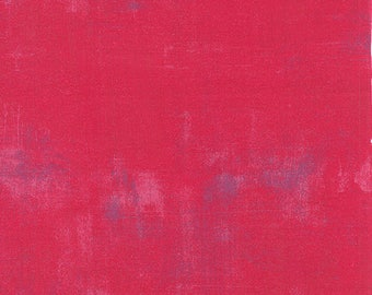 Moda Grunge Basics RASPBERRY Pink Purple 30150-253 Fabric BTY 1 yd