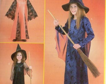 OVERSTOCK Sale!  McCall's COSTUMES Pattern 4620 WITCH Girls' Sizes 12 14 16