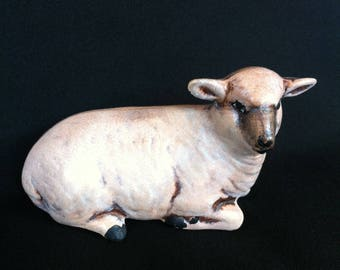 A Ceramic Lamb/Sheep Figure Marked 1973 With The Initial H
