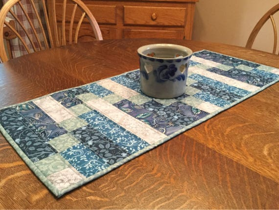 Quilted table runner, table runnner, strip table runner, modern table runner, table decor, table linens, table topper