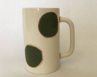 Tall Polka Dot Mug